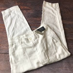 J. Crew Weekend Pants Ivory Linen Blend NWT Sz 6
